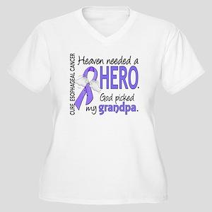 Esophageal Cancer Women's Plus Size V-Neck T-Shirt