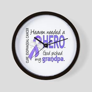 Esophageal Cancer HeavenNeededHero1 Wall Clock