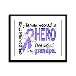 Esophageal Cancer HeavenNeededH Framed Panel Print