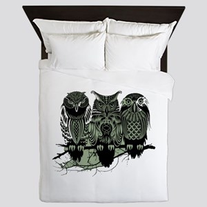 Three Owls Queen Duvet