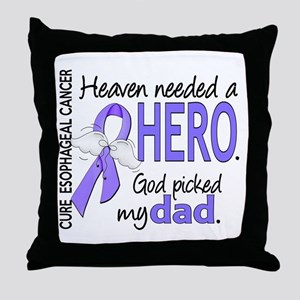 Esophageal Cancer HeavenNeededHero1 Throw Pillow