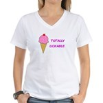 TOTALLY LICKABLE Women's V-Neck T-Shirt
