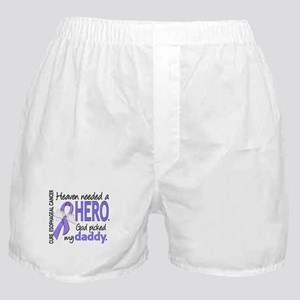 Esophageal Cancer HeavenNeededHero1 Boxer Shorts