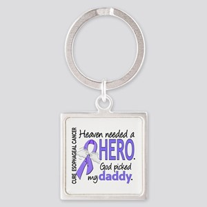 Esophageal Cancer HeavenNeededHero Square Keychain