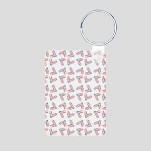 PINK SATIN BALLET Aluminum Photo Keychain