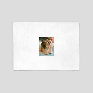 Australian Silky Terrier 5'x7'Area Rug