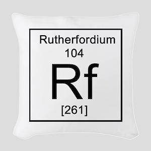 104. Rutherfordium Woven Throw Pillow