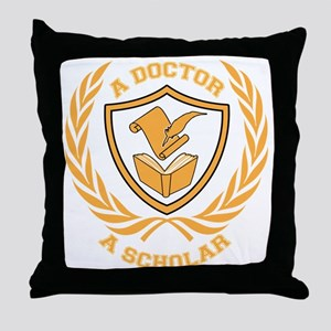 Doctor and Scholar Design Throw Pillow