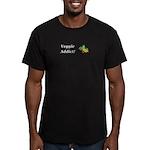 Veggie Addict Men's Fitted T-Shirt (dark)