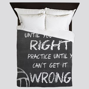 Practice volleyball motivational Queen Duvet