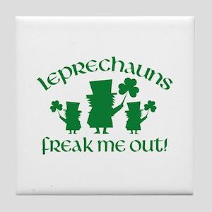 Leprechauns Freak Me Out! Tile Coaster