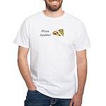 Pizza Junkie White T-Shirt