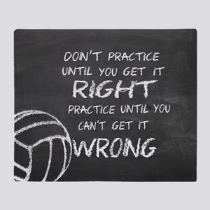 Practice volleyball motivational Throw Blanket
