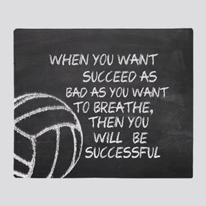 Successful Volleyball Motivational Throw Blanket