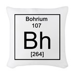 107. Bohrium Woven Throw Pillow