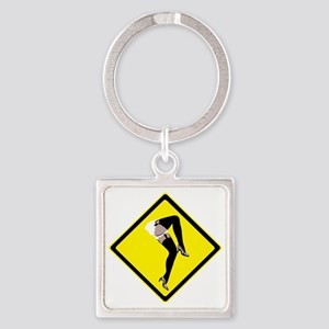 Burlesque x-ing Square Keychain