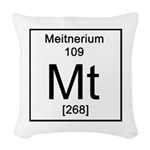 109. Meitnerium Woven Throw Pillow