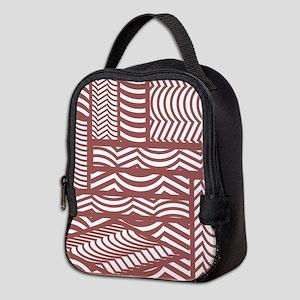 Marsala Cubist Neoprene Lunch Bag