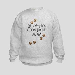 Bluetick Coonhound Mom Kids Sweatshirt