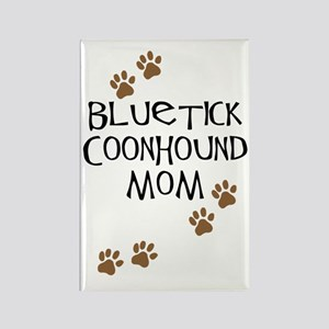 Bluetick Coonhound Mom Rectangle Magnet
