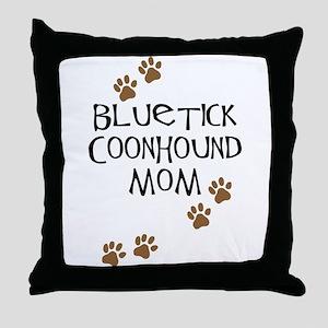 Bluetick Coonhound Mom Throw Pillow