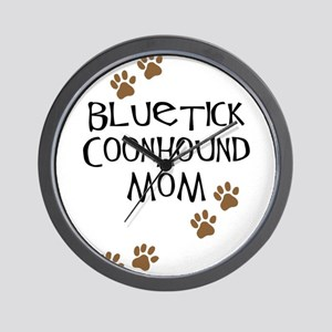 Bluetick Coonhound Mom Wall Clock
