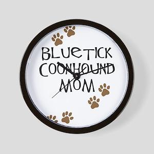 Bluetick Coonhound Mom Wall Clock