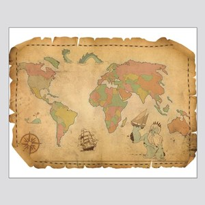 Ancient Mythology World Map Posters