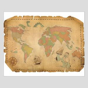 Ancient Mythology World Map Posters