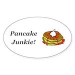 Pancake Junkie Sticker (Oval 50 pk)