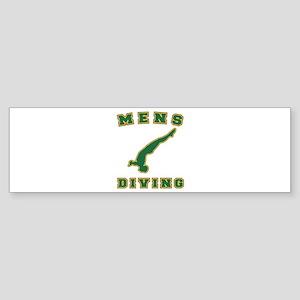 Green Men's Diving Logo Bumper Sticker