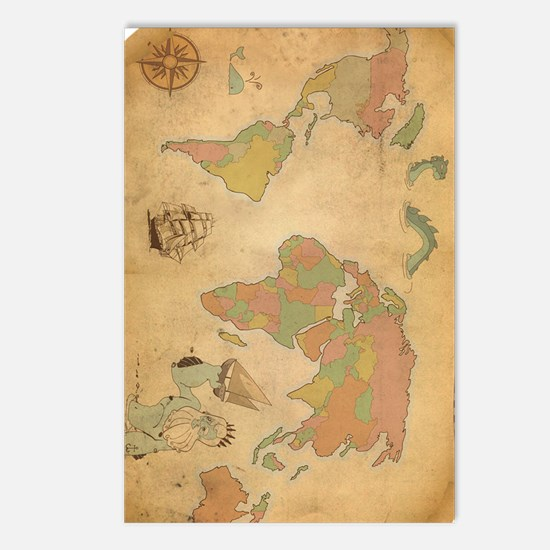Ancient Mythology World M Postcards (Package of 8)