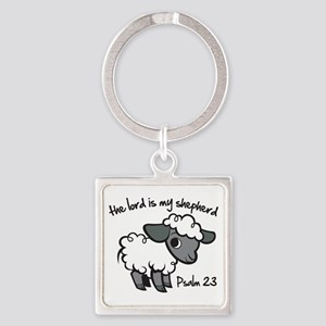 The Lord is my Shepherd Square Keychain