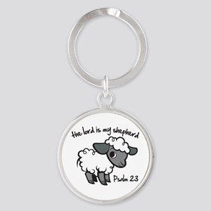 The Lord is my Shepherd Round Keychain