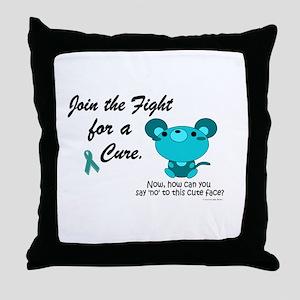 Teal Mouse 3 (OC) Throw Pillow