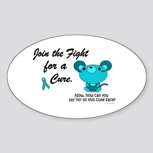 Teal Mouse 3 (OC) Oval Sticker