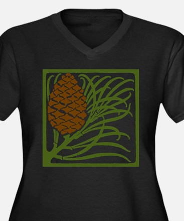 Giant Pine Cone Color Plus Size T-Shirt