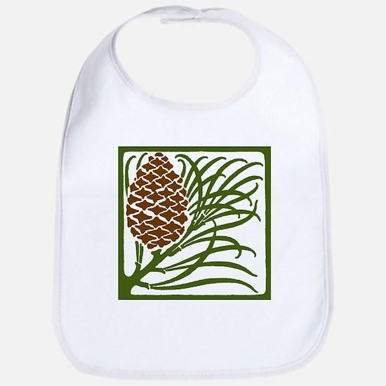 Giant Pine Cone Color Bib