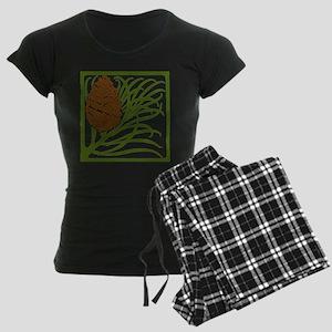 Giant Pine Cone Color Women's Dark Pajamas