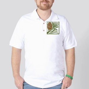 Giant Pine Cone Color Golf Shirt