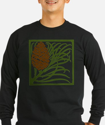 Giant Pine Cone Color Long Sleeve T-Shirt