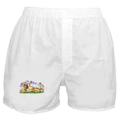 Great Dane Fawn Chasing Butterflies Boxer Shorts