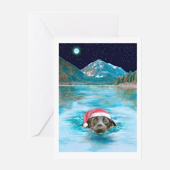 Christmas swim Greeting Card