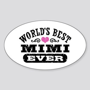 World's Best Mimi Ever Sticker (Oval)