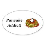 Pancake Addict Sticker (Oval 50 pk)