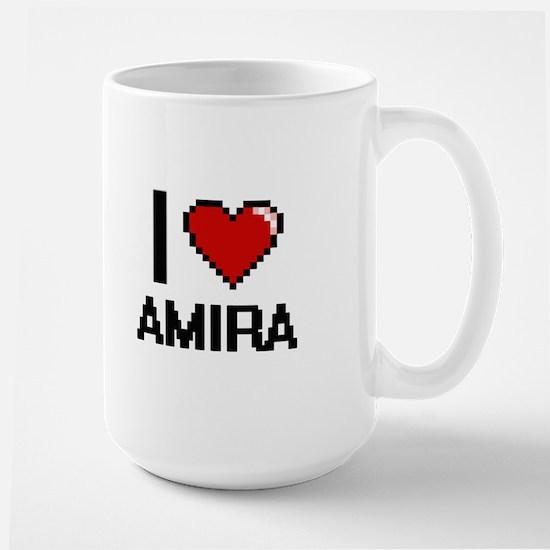 I Love Amira Mugs