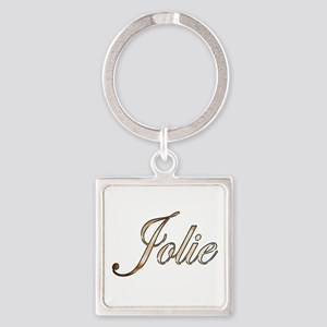 Gold Jolie Square Keychain