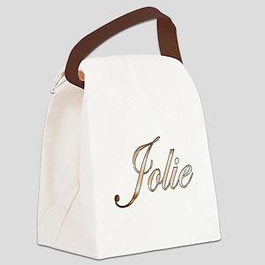 Gold Jolie Canvas Lunch Bag