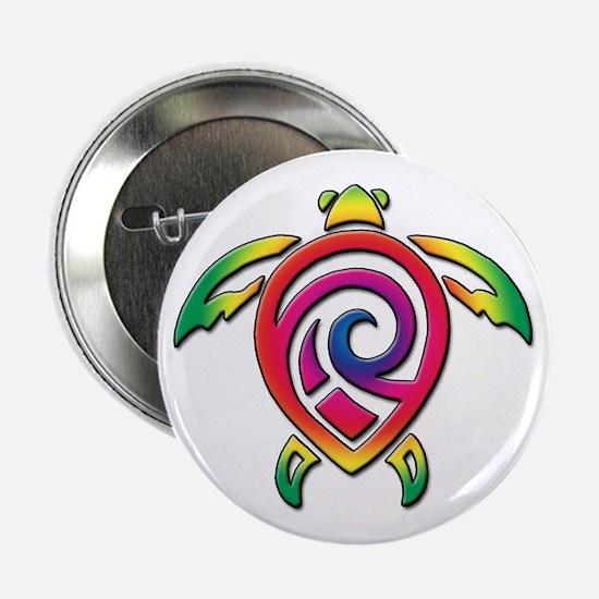 """Rainbow Sea Turtle 2.25"""" Button"""
