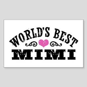 World's Best Mimi Sticker (Rectangle)